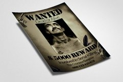 Vintage Wanted Poster Flyer Template Product Image 2
