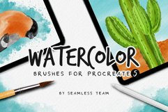 Watercolor brushes for procreate 5 Product Image 1