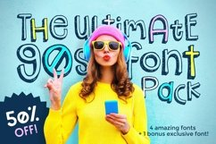 The Ultimate 90s Font Pack Product Image 1