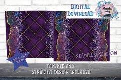15oz Sublimation Purple Glitter  Skinny tumbler Design wrap Product Image 2