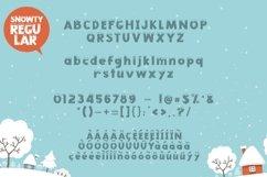 Web Font Snowty 3 Font Product Image 5