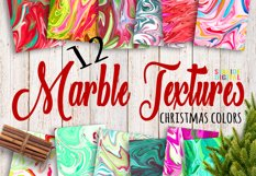Christmas Marble Textures Product Image 1
