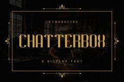 Web Font Chatterbox Product Image 1