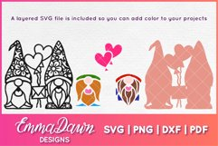 GUS & GINO THE GNOME LOVERS SVG VALENTINES DAY MANDALA Product Image 3