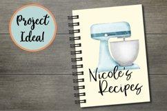 Blue Baking Equipment Watercolour Clipart Product Image 2