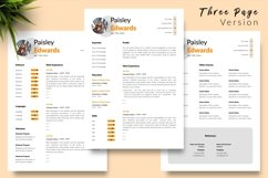 Modern Resume CV Template for Word & Pages Paisley Edwards Product Image 4