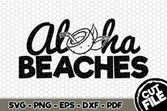Aloha Beaches - SVG Cut File n223 Product Image 1