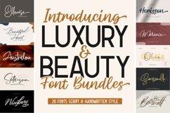 LUXURY & BEAUTY Handwritten Font Bundle Product Image 1