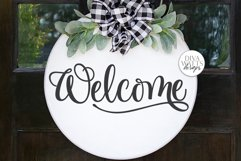 Welcome SVG   Farmhouse Sign   DXF and more! Product Image 2