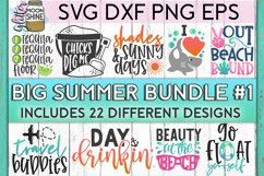 Big Summer Bundle of 22 SVG DXF PNG EPS Cutting Files #1 Product Image 1