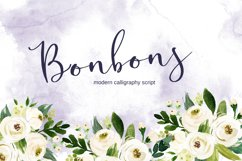 Bonbons -modern calligraphy script font with gold and silve Product Image 1