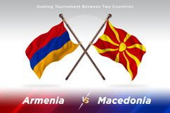 Armenia versus Macedonia Two Flags Product Image 1