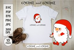 Christmas SVG Cute Gnome Sticker. Funny Christmas Quote Product Image 2