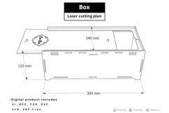 BOX - laser cut file Product Image 2