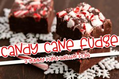Candy Cane Fudge - A Yummy Hand-Written Font Product Image 1
