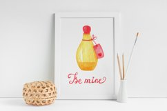 Valentines Day cliparts, pink and gold love graphics Product Image 5