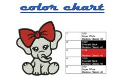Baby Elephant machine embroidery designs Product Image 2