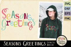 Chistmas SVG - Seasons Greetings Word Art & Vector Clipart Product Image 1
