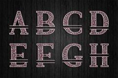 3D Layered Split Alphabet A to Z - SVG Product Image 3