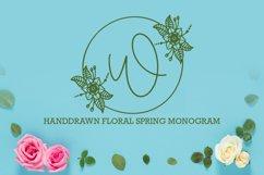 Floral Spring Monogram Product Image 1