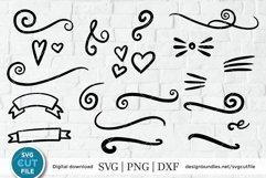 Flourish svg, swoosh svg, swashes svg, swirl svg, squiggle Product Image 1