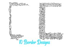 10 William Morris Style Border Lines Illustration Collection Product Image 4