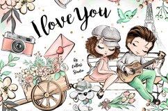 Valentine's Day clip art, love illustrations, Romantic Product Image 1