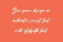 Babotta Clean Slanted Script Font Product Image 4