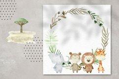 Savannah. Watercolor animals. Product Image 2