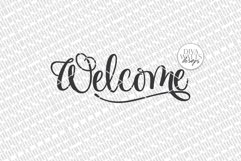 Welcome SVG   Farmhouse Sign   DXF and more! Product Image 4