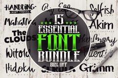 15 Essential Font Bundle Product Image 1