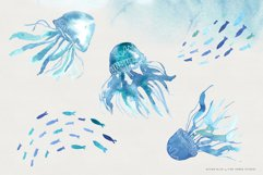Ocean Life Watercolor Illustrations Product Image 5