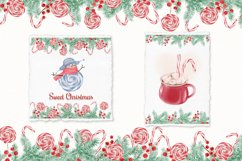 Watercolor Christmas Clipart. Christmas Bull. Snowman. PNG Product Image 5