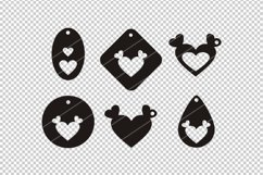 Heart earrings,Heart clipart,Heart svg,cutting files,cameo Product Image 2