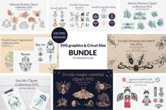 Doodle linear SVG graphics & Cricut files Bundle Product Image 1