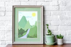 Summer landscape creator in abstract vector. Product Image 5