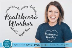 Healthcare worker svg, a health care worker svg for crafters Product Image 1