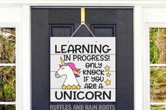 Unicorn Online Learning Door Sign - E-Learning Unicorn Sign Product Image 2