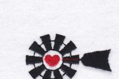 Red Heart Top Windmill Machine Embroidery File Product Image 4