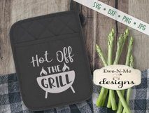 Grilling BBQ Themed Pot Holder Bundle - Fathers Day SVG Product Image 5