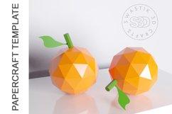 PDF Template of Orange fruit papercraft 3d Papercraft Product Image 2