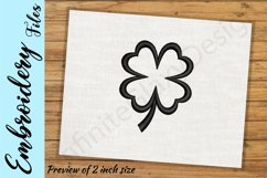 Four Leaf Clover - Embroidery Design files Product Image 2