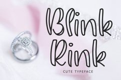 Blink Rink Cute Typeface Product Image 1