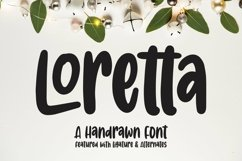 Web Font Loretta - Handrawn Font Product Image 1