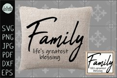 Family Life's Greatest Blessing SVG, Sublimation PNG & Print Product Image 2