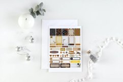 Coffee Lover Planner Stickers Canva Template, Customizable Product Image 2