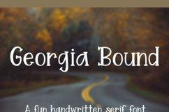 Georgia Bound - A fun handwritten serif font Product Image 5