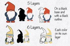 Gnome SVG. Layered SVG. Layered Papercut Product Image 4