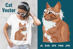 Cat Vector Illustration   Majestic Product Image 1