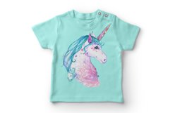 Hand painted watercolor illustration of Unicorn Product Image 7